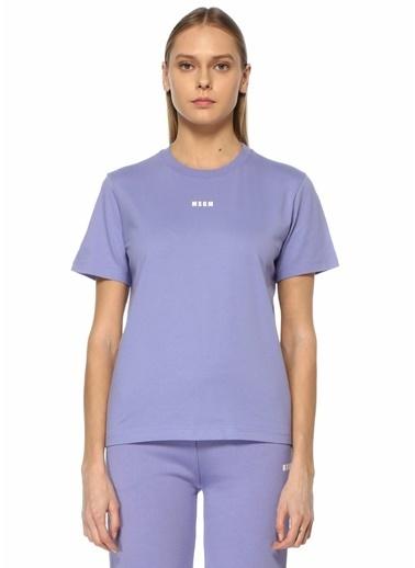 MSGM MSGM Lila Logo Detaylı T-shirt 101638079 Lila